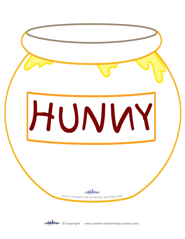 Winnie the Pooh Hunny Pot Coloring Page Printable Hunny Pot Decoration Coolest Free Printables