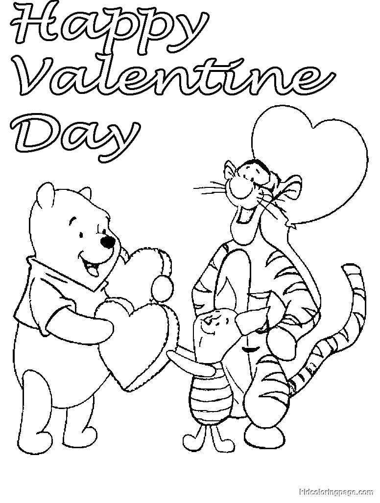 Winnie the Pooh Valentines Day Coloring Pages Winnie the Pooh Valentines Day Coloring Pages at