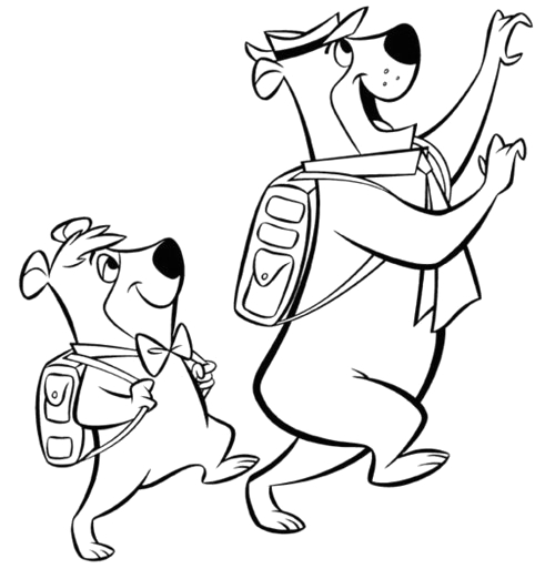 yogi bear and boo boo coloring pages