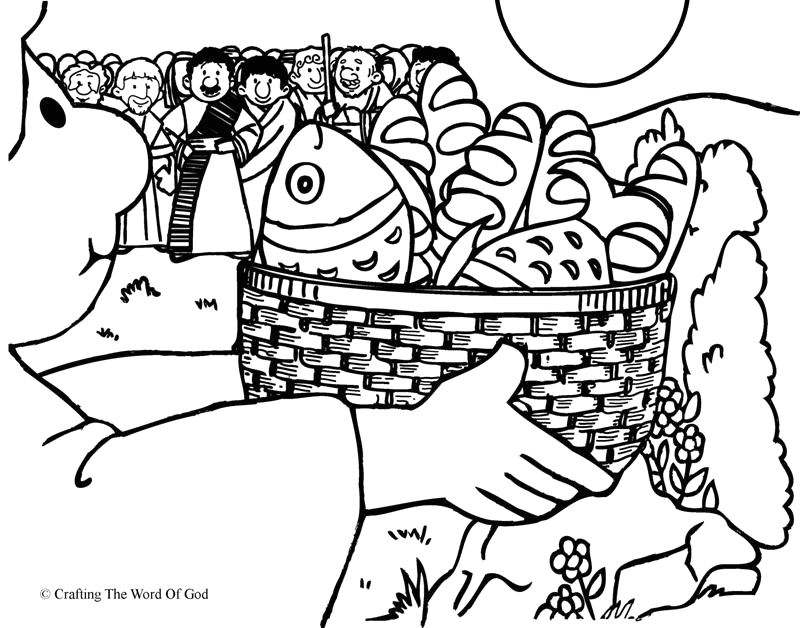 loaves and fishes coloring page