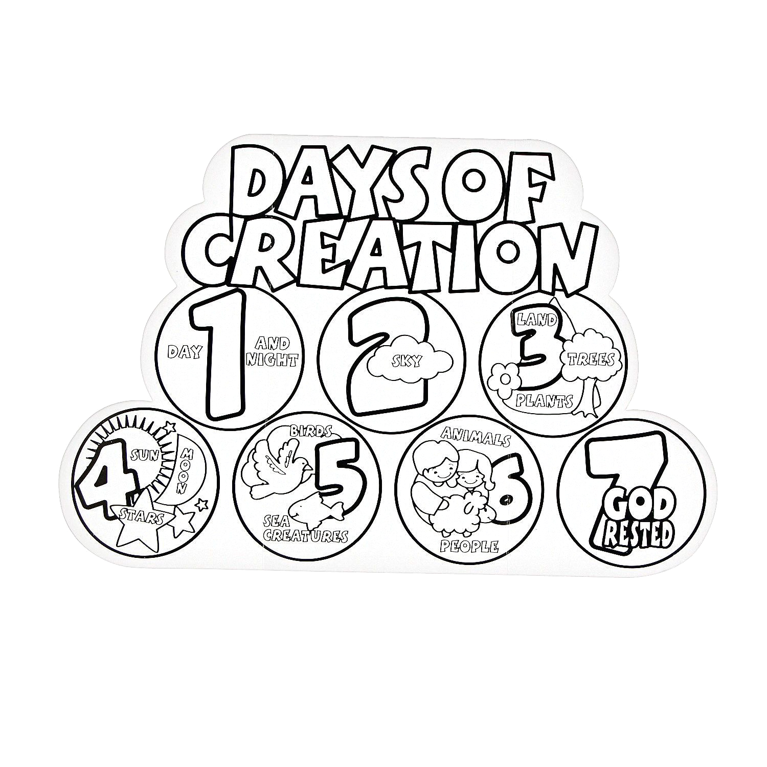 7 Days Of Creation Coloring Pages Free Free Printable Coloring Pages Creation Story Coloring