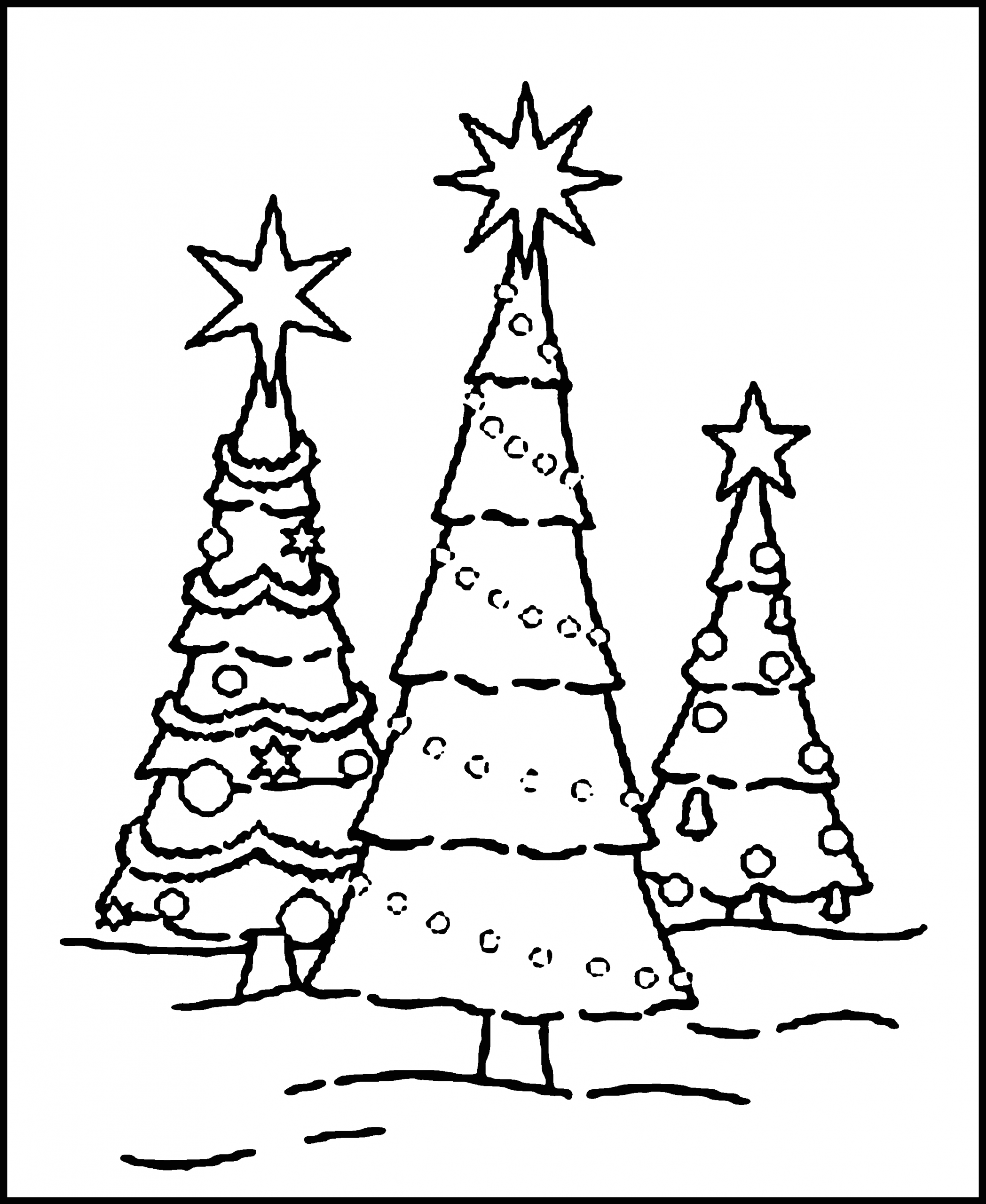 A Coloring Page Of A Christmas Tree Free Printable Christmas Tree Coloring Pages for Kids
