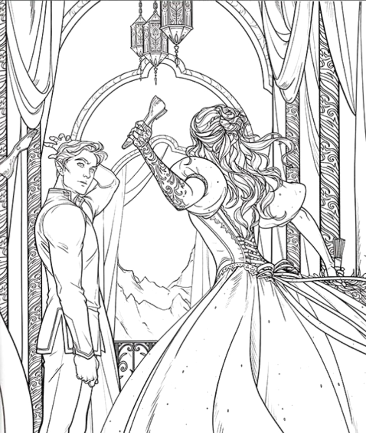 A Court Of Thorns and Roses Coloring Pages Acotar Coloring Pages