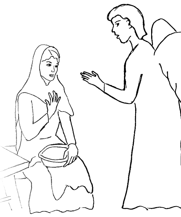 Angels Spoke to Mary and Joseph Coloring Pages Angels Spoke to Mary and Joseph Coloring Pages – Manet