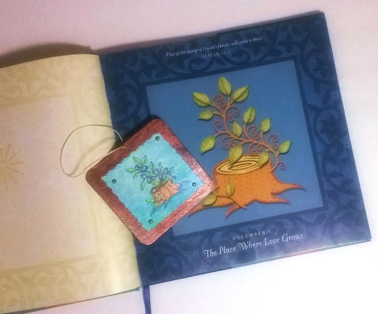 bible journaling through advent with