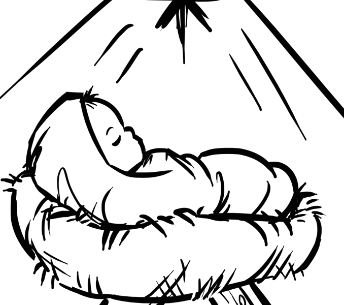 Baby Jesus In A Manger Coloring Page Baby Jesus Coloring Pages Best Coloring Pages for Kids
