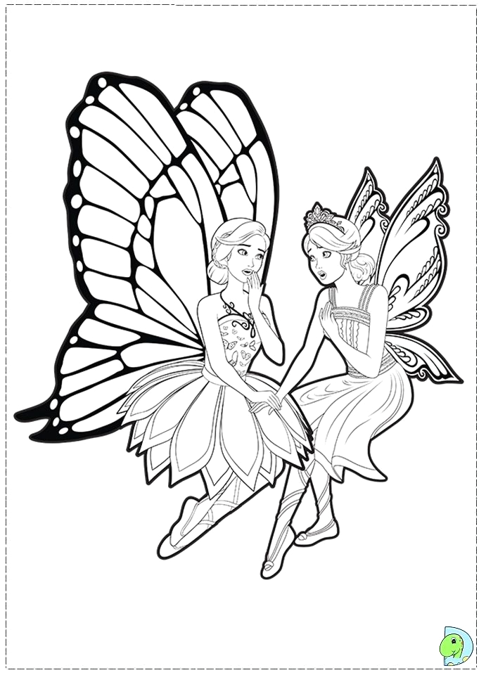 Barbie Mariposa and the Fairy Princess Coloring Pages Barbie Mariposa Coloring Pages Google Søgning with