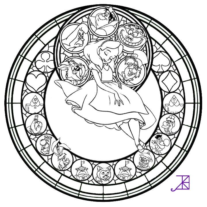 Beauty and the Beast Stained Glass Window Coloring Page Beauty and the Beast Stained Glass Window Coloring Page