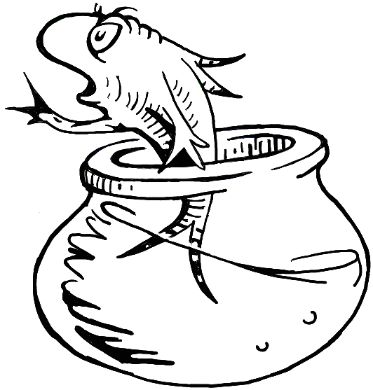 Cat In the Hat Fish Coloring Pages How to Draw the Fish From the Cat In the Hat Dr Seuss
