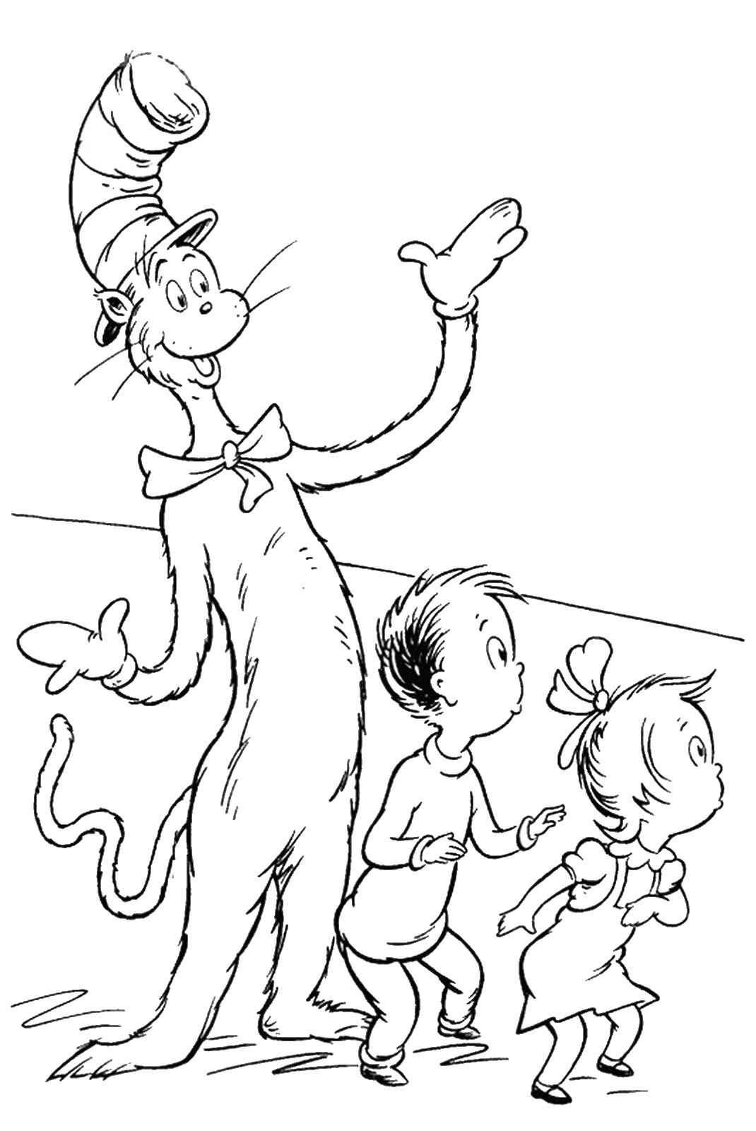 Cat In the Hat Free Printable Coloring Pages Cat In the Hat Coloring Pages