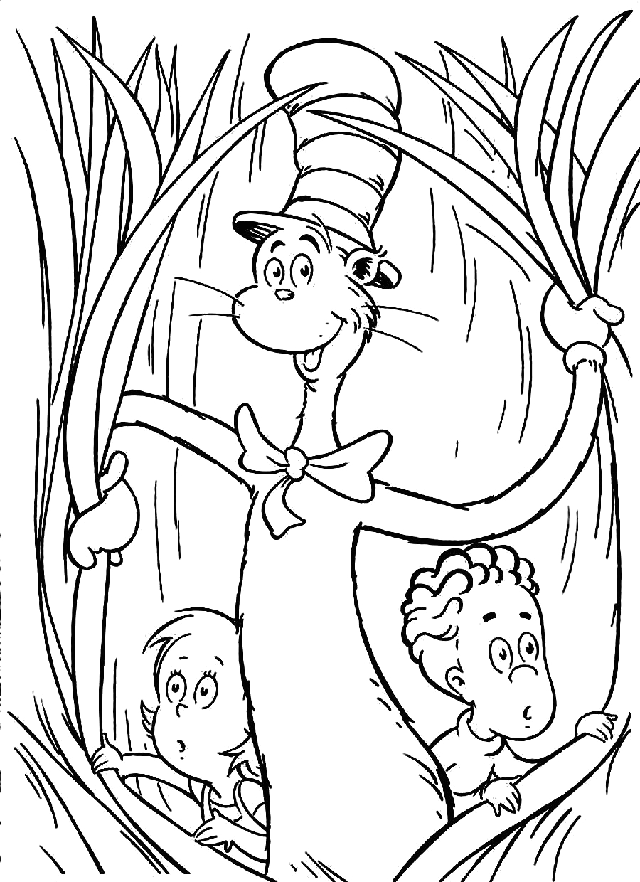 Cat In the Hat Free Printable Coloring Pages Free Printable Cat In the Hat Coloring Pages for Kids