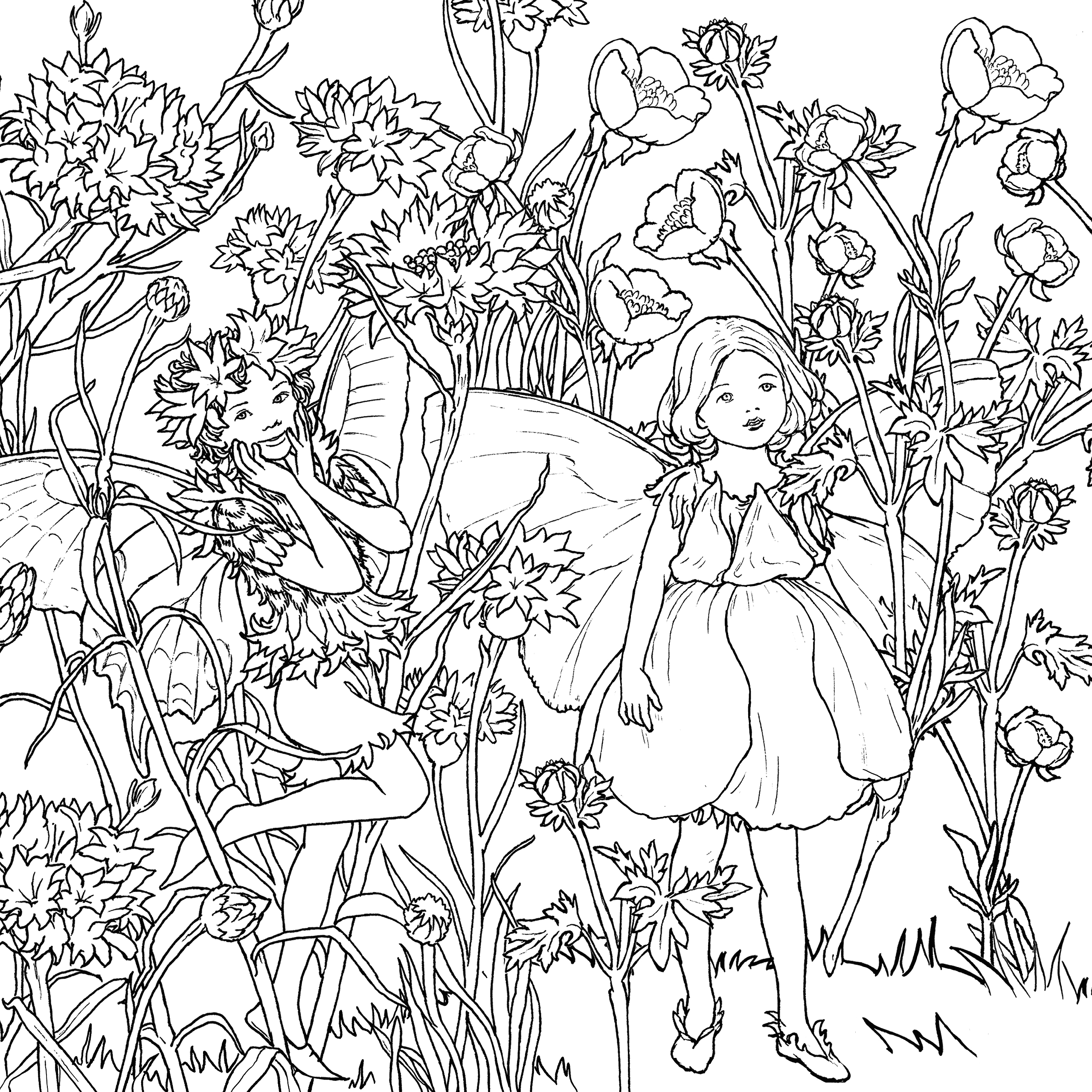 20 cicely mary barker coloring pages