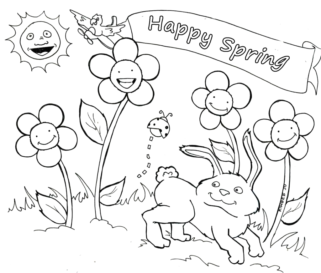 pages spring coloring pages you can print kids coloring pages