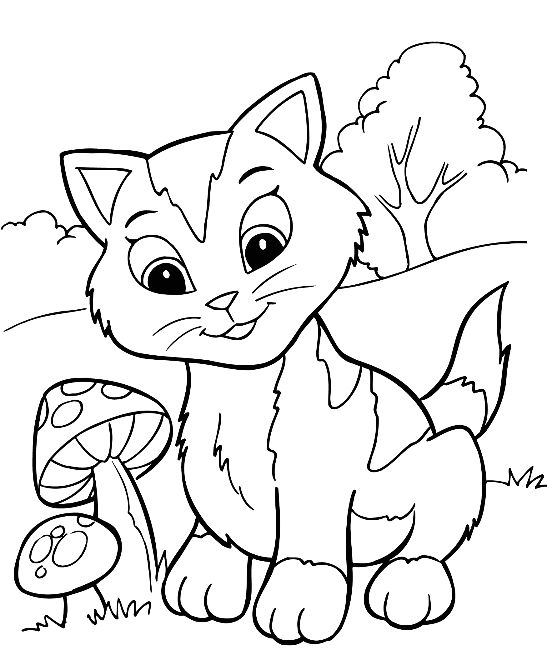 Coloring Pages for Kids to Color Online Free Printable Kitten Coloring Pages for Kids Best