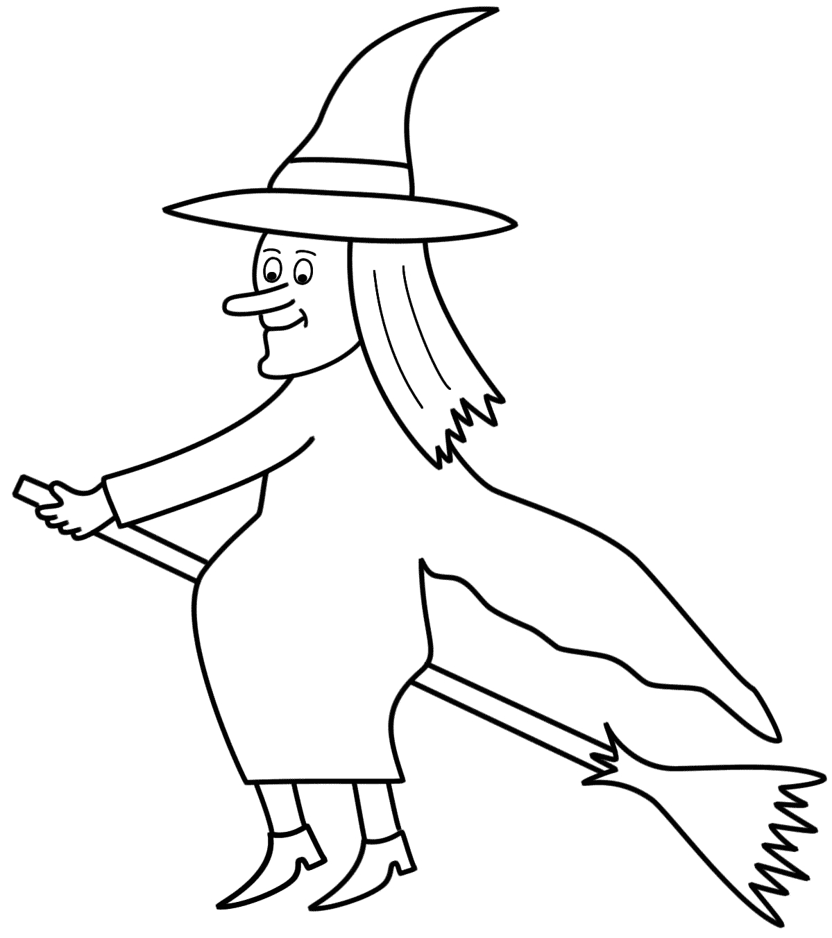 Coloring Pages Of Witches On A Broom Coloring Pages Witches A Broom Coloring Home