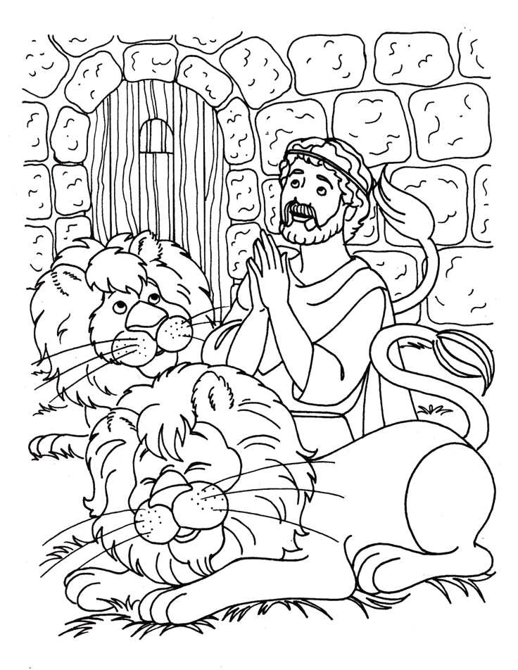 Daniel and the Lions Den Coloring Page Printable Daniel and the Lions Den Coloring Page