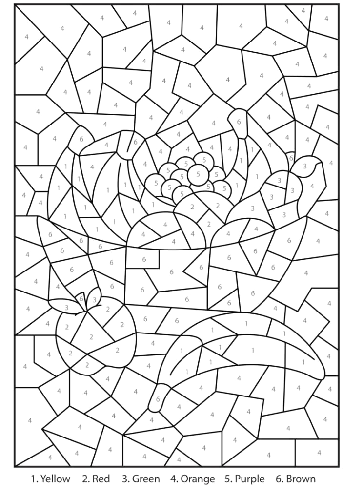 free printable color by number coloring pages for adults color free color by number pages for adults difficult color by number pages for adults
