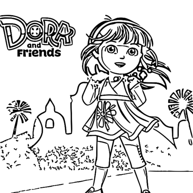 dora and friends drawing