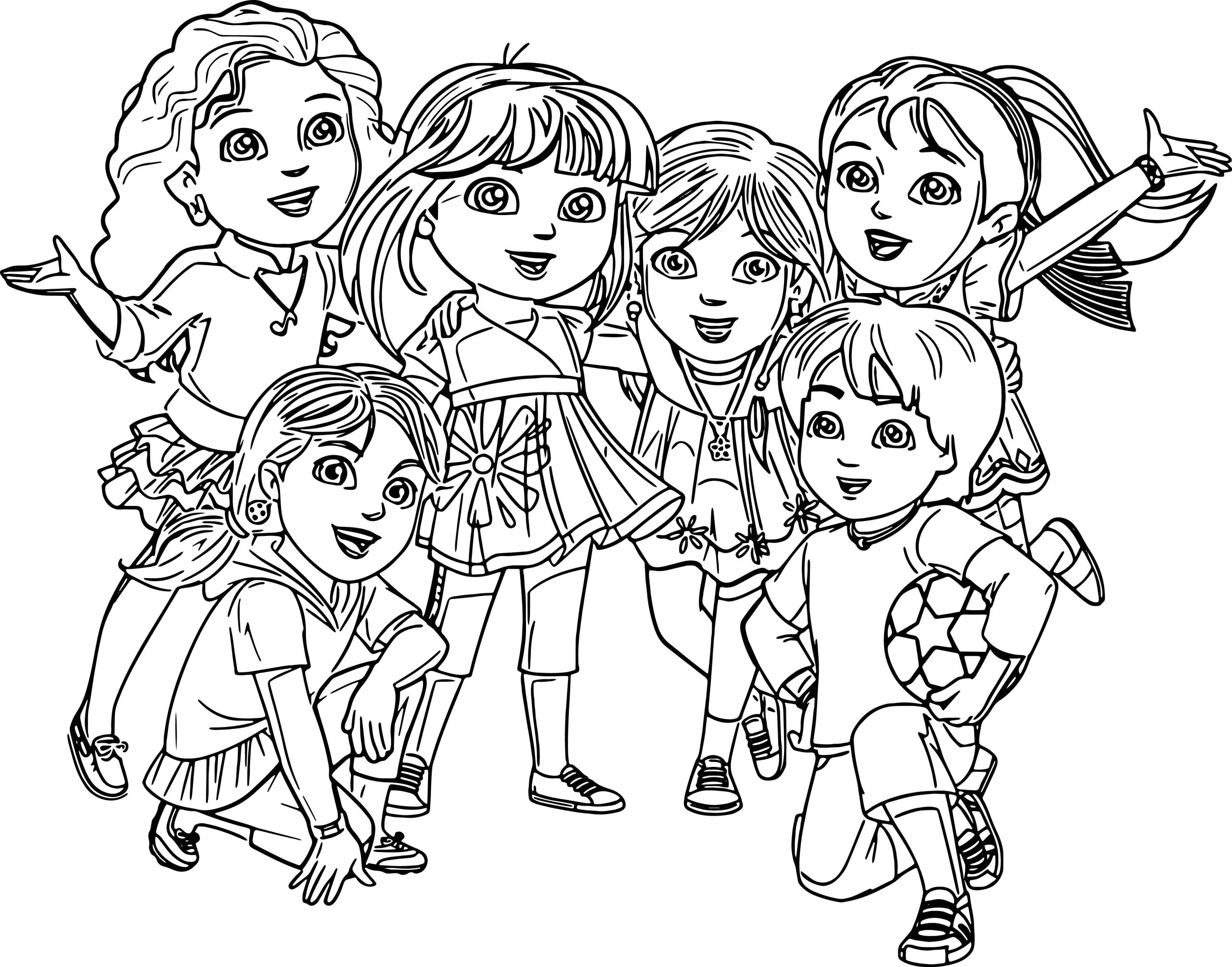 Dora and Friends Into the City Coloring Pages Pg 18 and 19 – Dora and Friends Coloring Page