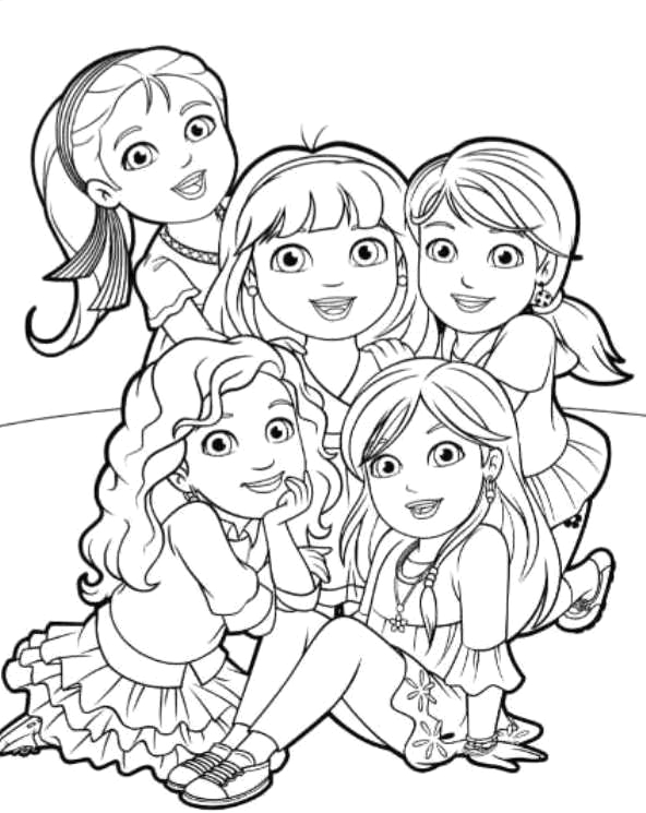 printable coloring pages dora and friends into the city sketch templates
