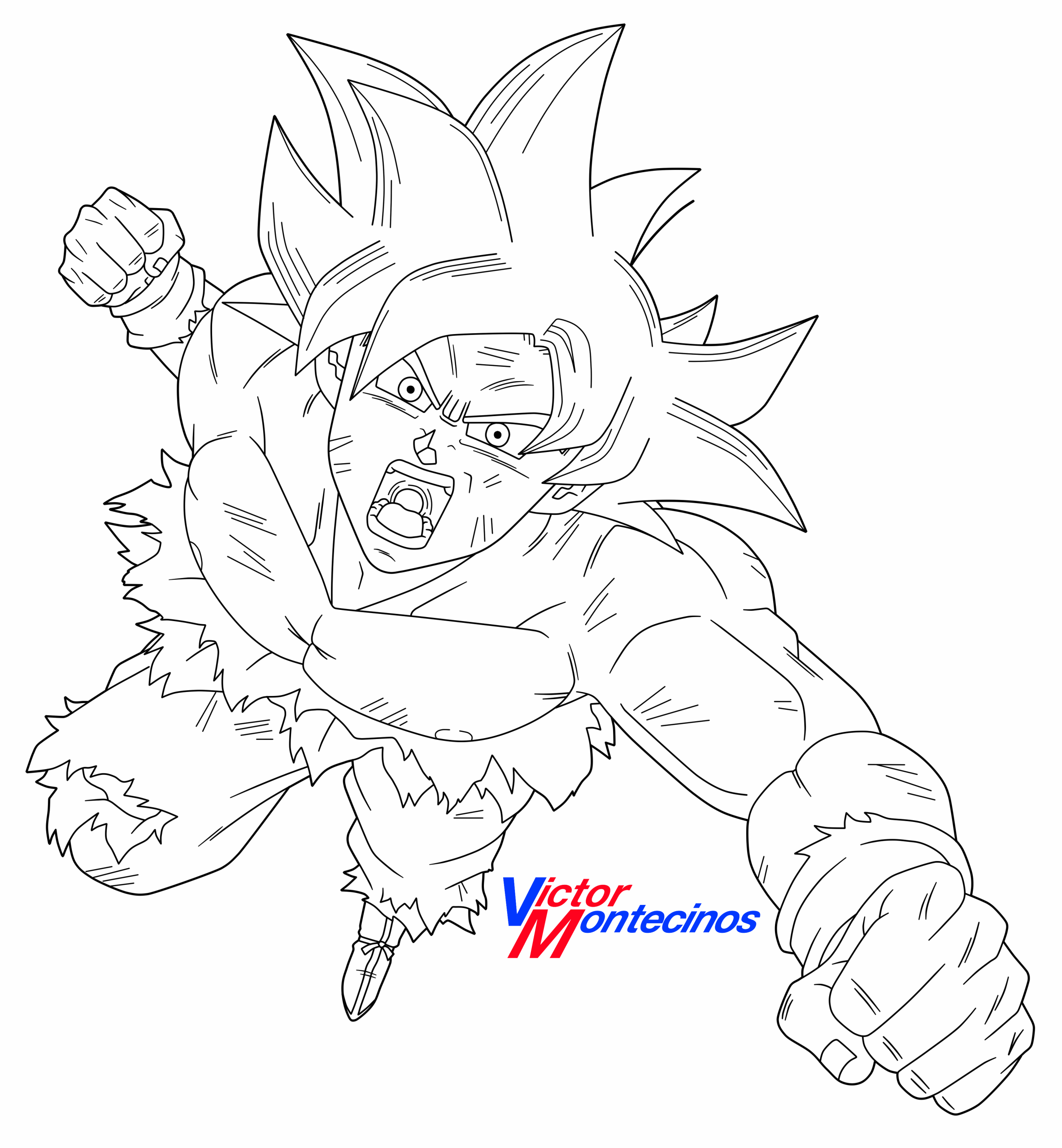 Dragon Ball Super Coloring Pages Ultra Instinct Ultra Instinct Goku Lineart by Victormontecinos On