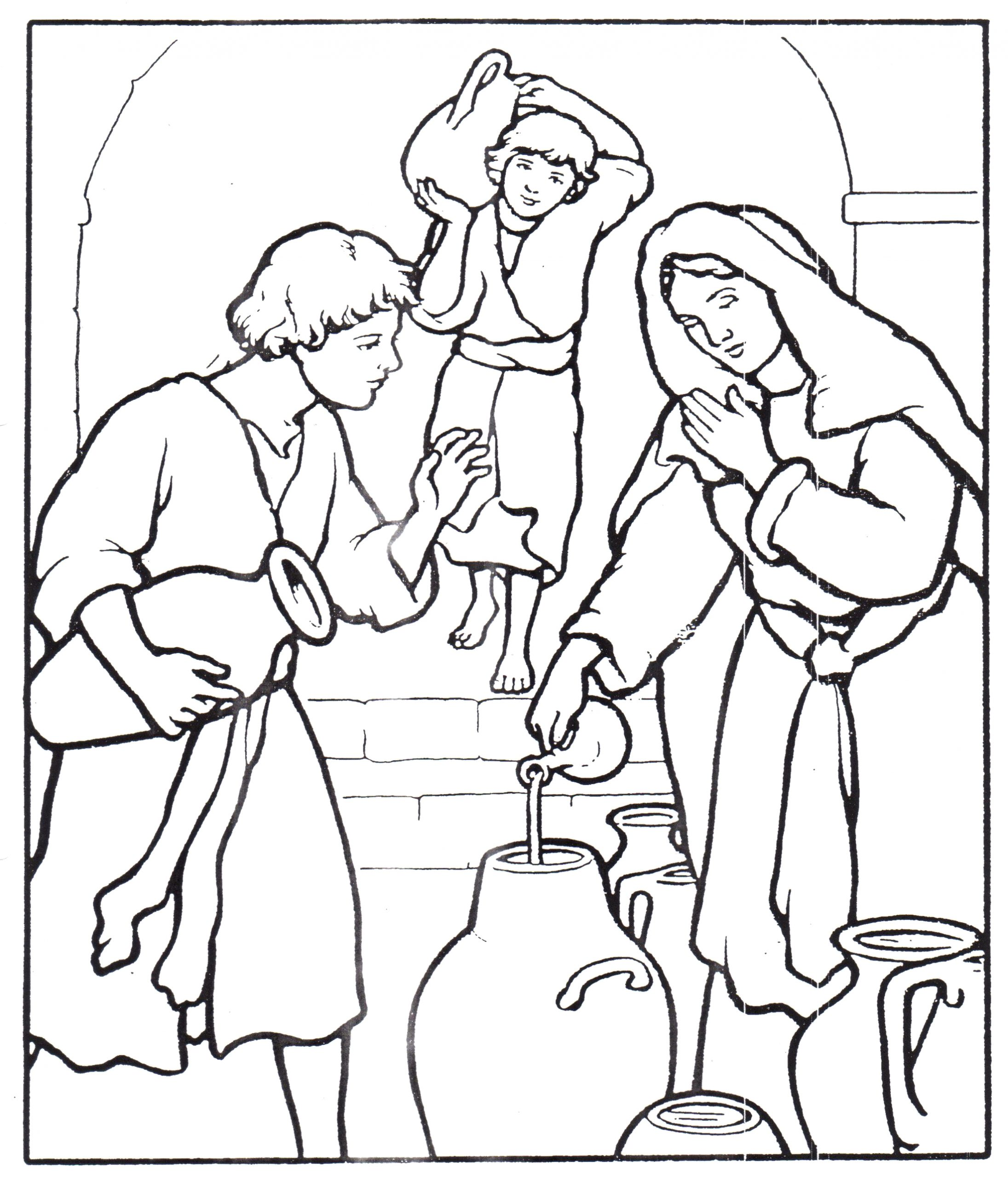 Elijah and the Widow Oil Coloring Page Widow S Oil