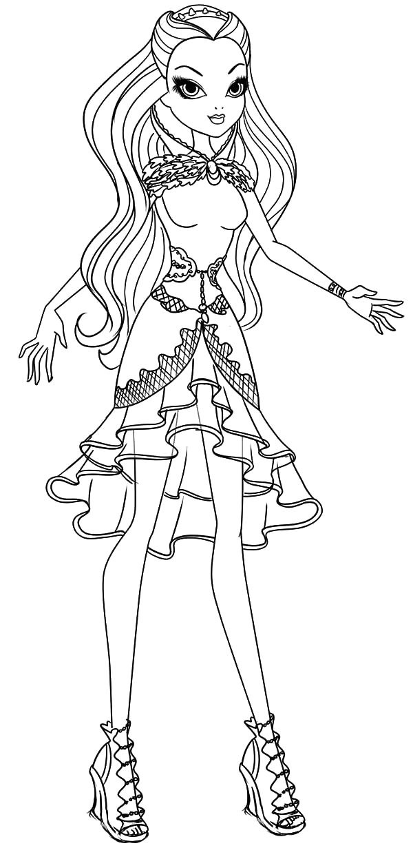 Ever after High Raven Queen Coloring Pages Beautiful Raven Queen Ever after High Coloring Pages