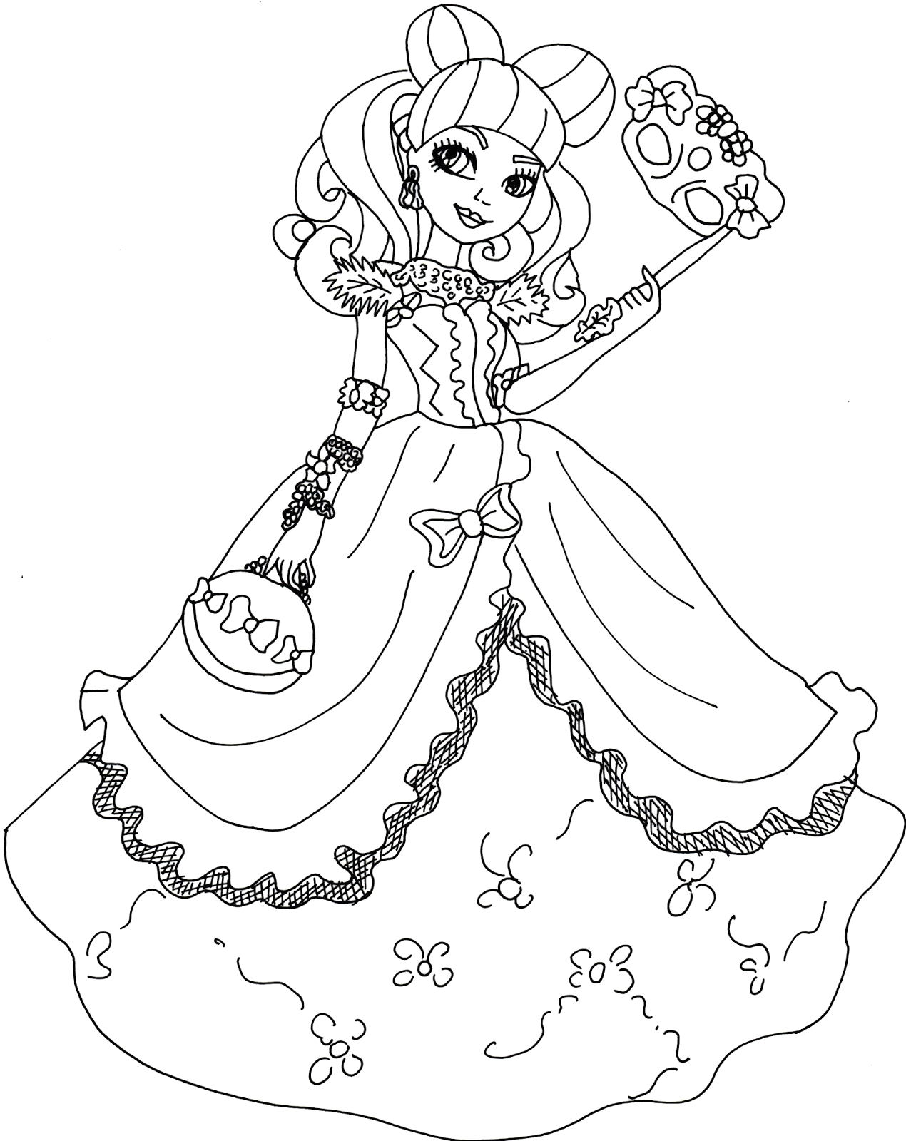 ever after high raven queen coloring pages