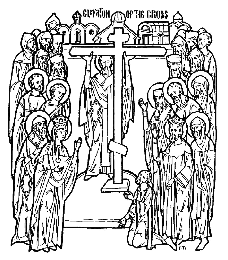 Exaltation Of the Holy Cross Coloring Page orthodoxy for Kids Exaltation Of the Holy Cross Feast