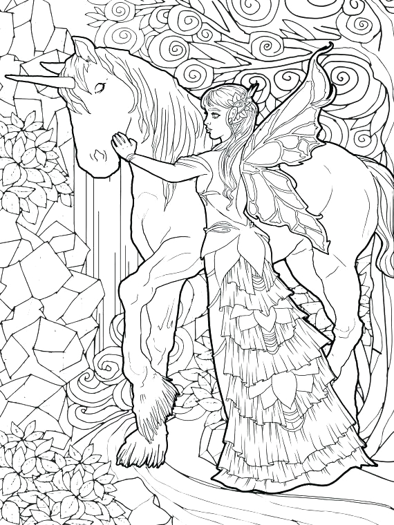 Fairy and Unicorn Coloring Pages for Adults Unicorn Coloring Pages for Adults Best Coloring Pages