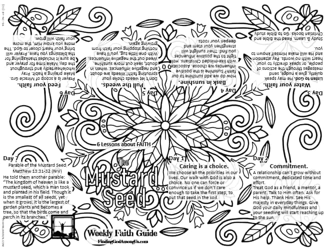 mustard seed coloring page booklet
