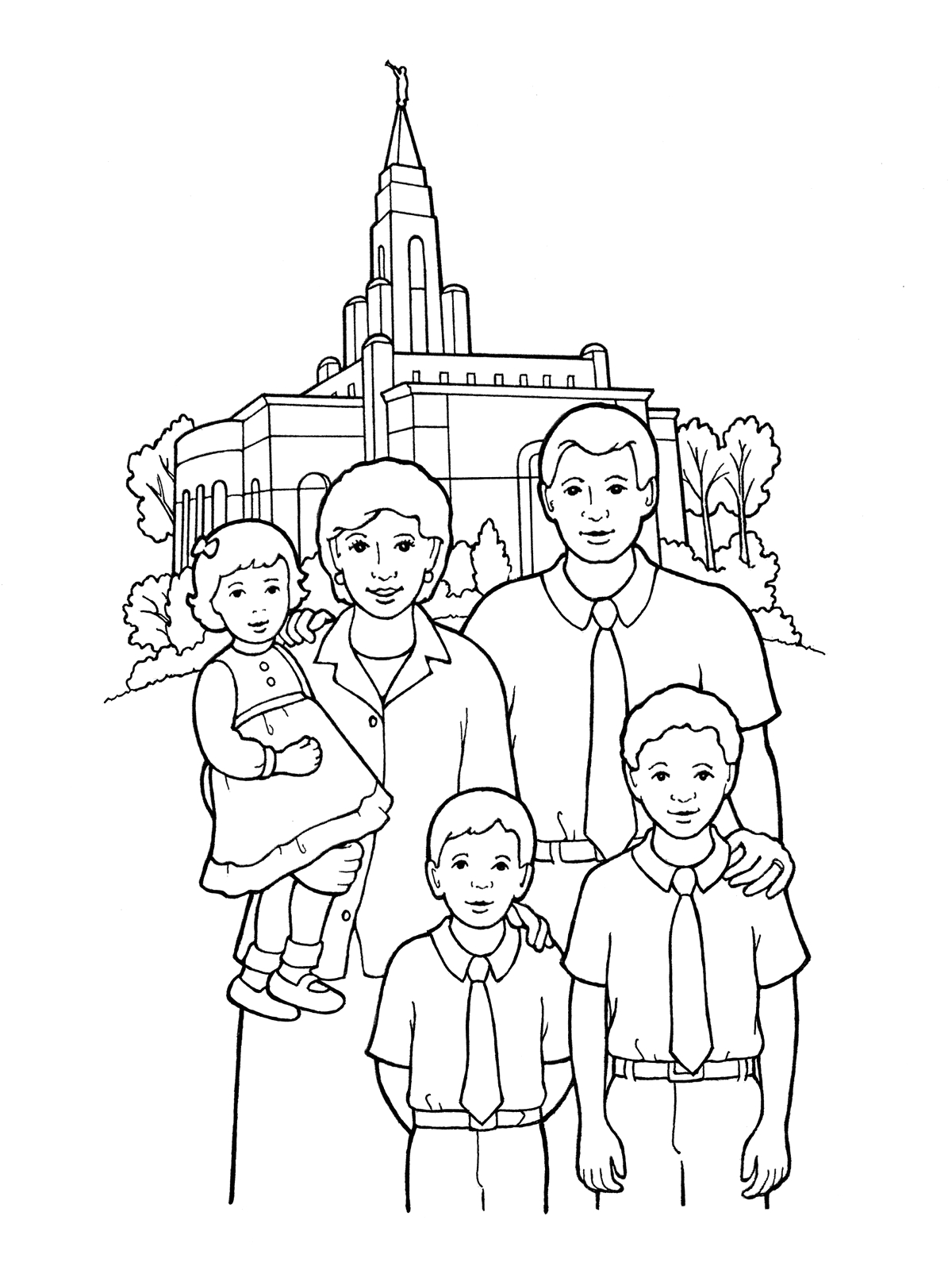 Families Can Be together forever Coloring Pages Our Deseret Homeschool Gospel Basics 38 Week Lesson Plan