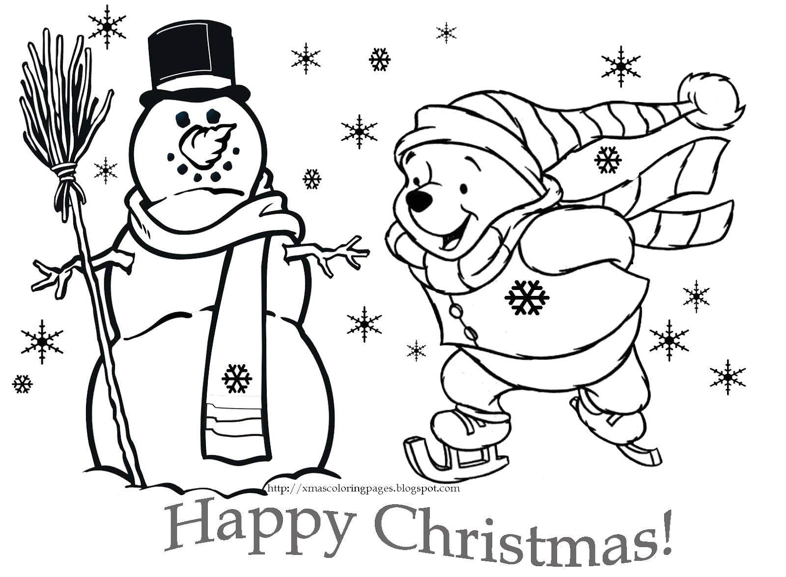 christmas coloring pages of disney