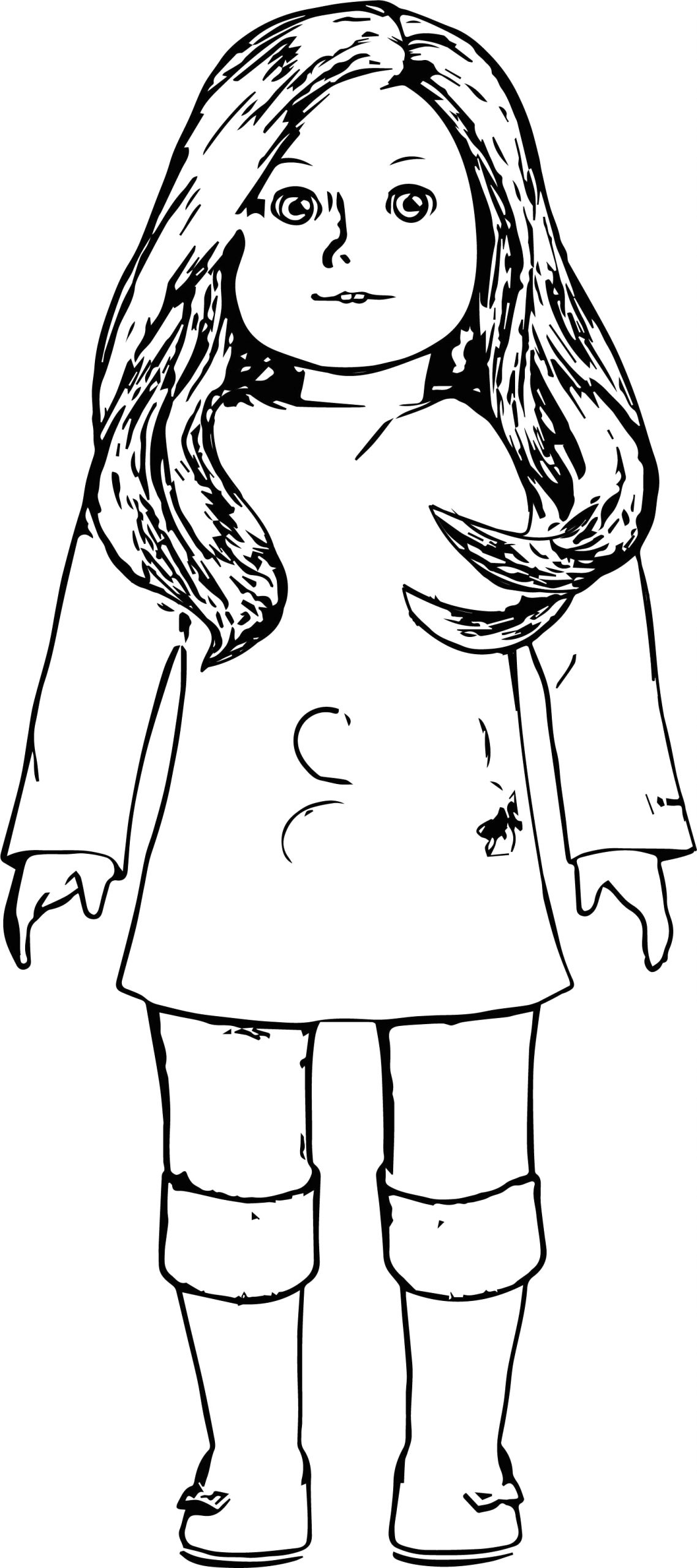 Free Coloring Pages Of American Girl Dolls American Girl Coloring Page