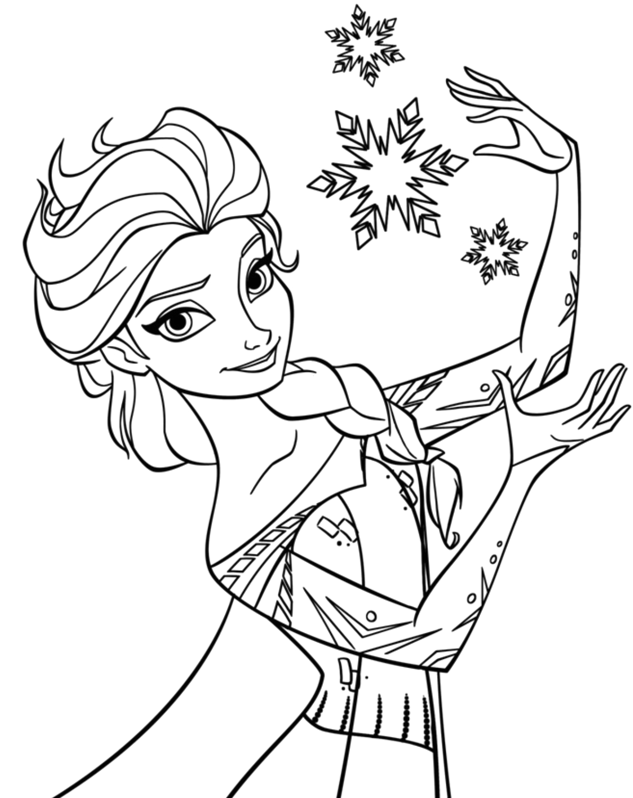 Free Coloring Pages to Print for Kids Free Printable Elsa Coloring Pages for Kids Best