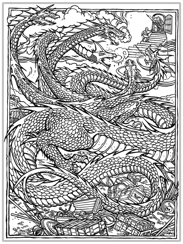 Free Printable Coloring Pages for Adults Advanced Dragons Dragon Coloring Pages for Adults Best Coloring Pages for