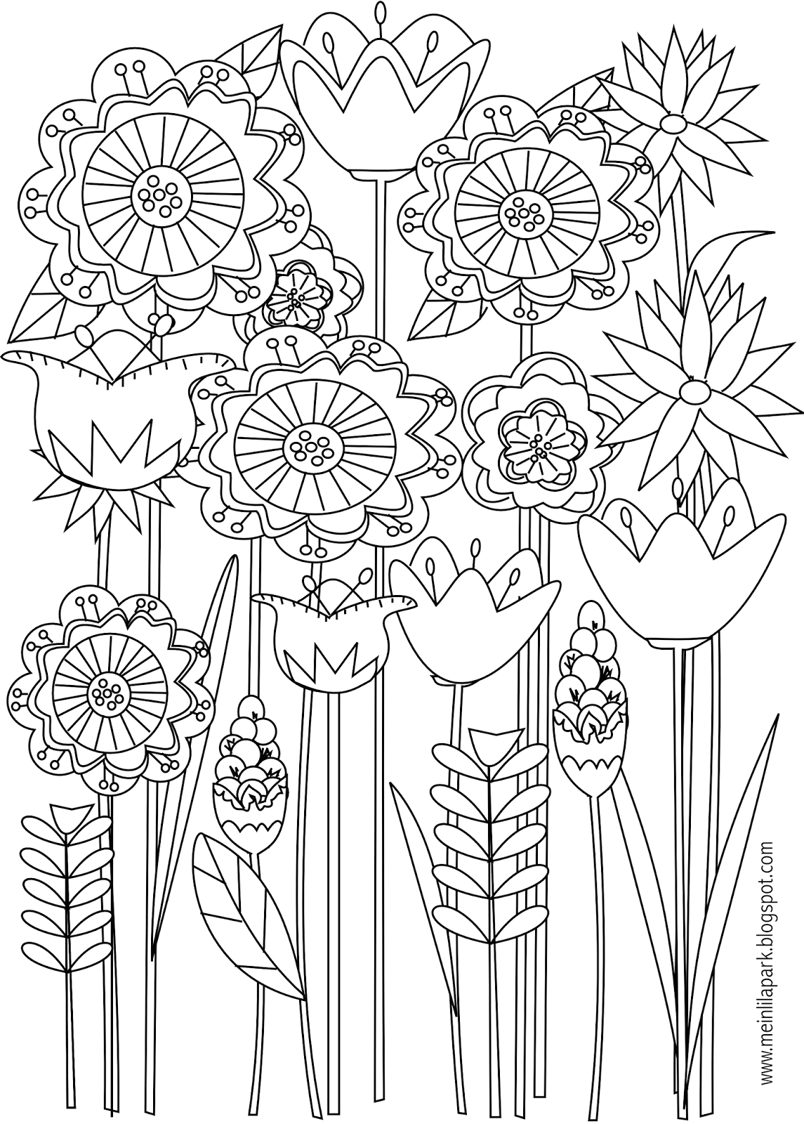 free printable spring coloring pages