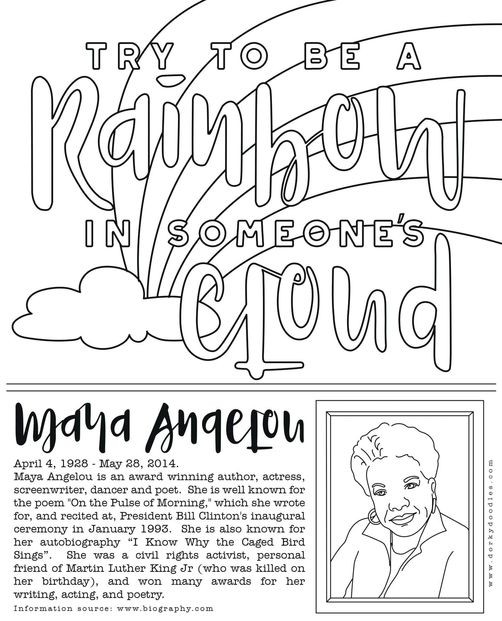 free coloring pages for black history month