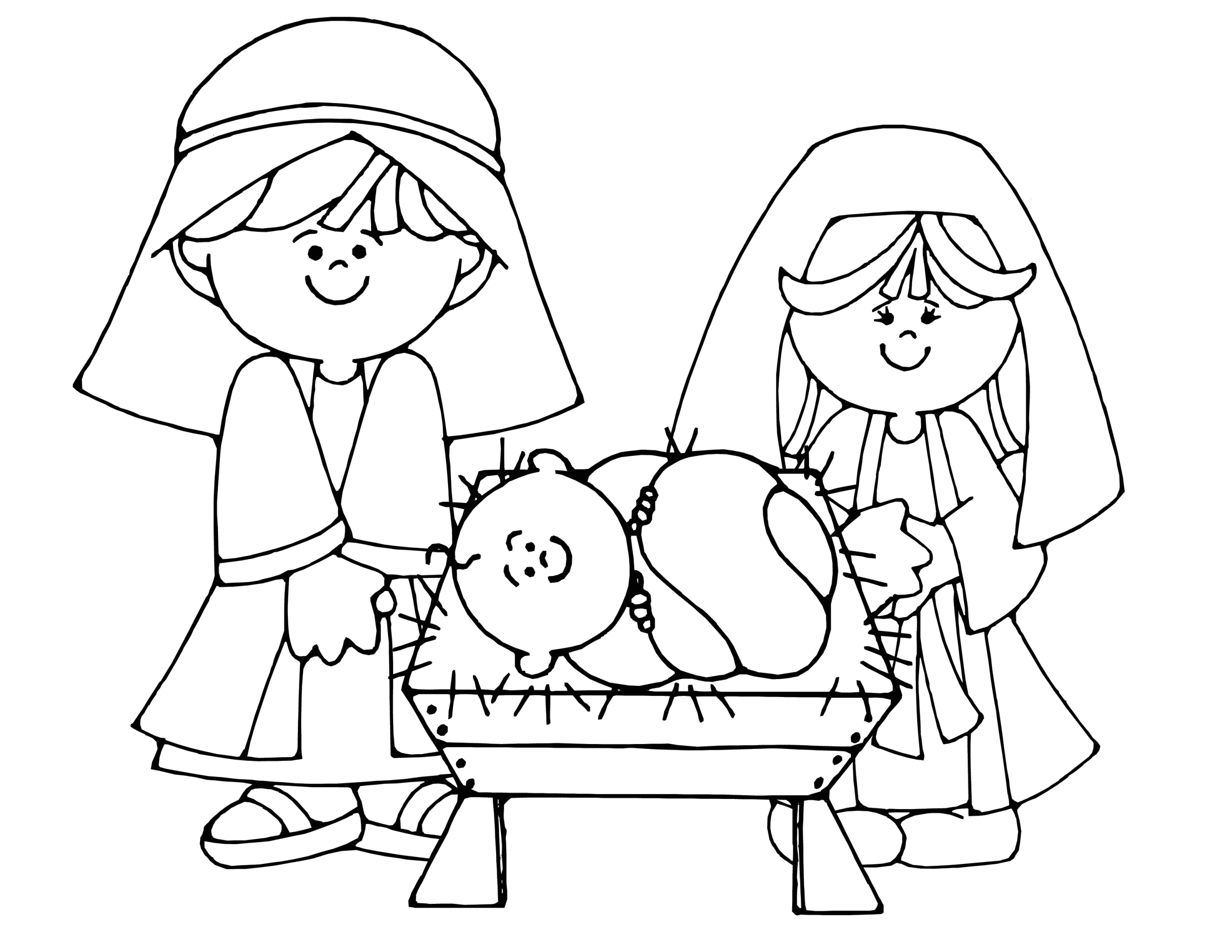 Free Printable Coloring Pages for Christmas Nativity Free Printable Nativity Coloring Pages for Kids Best