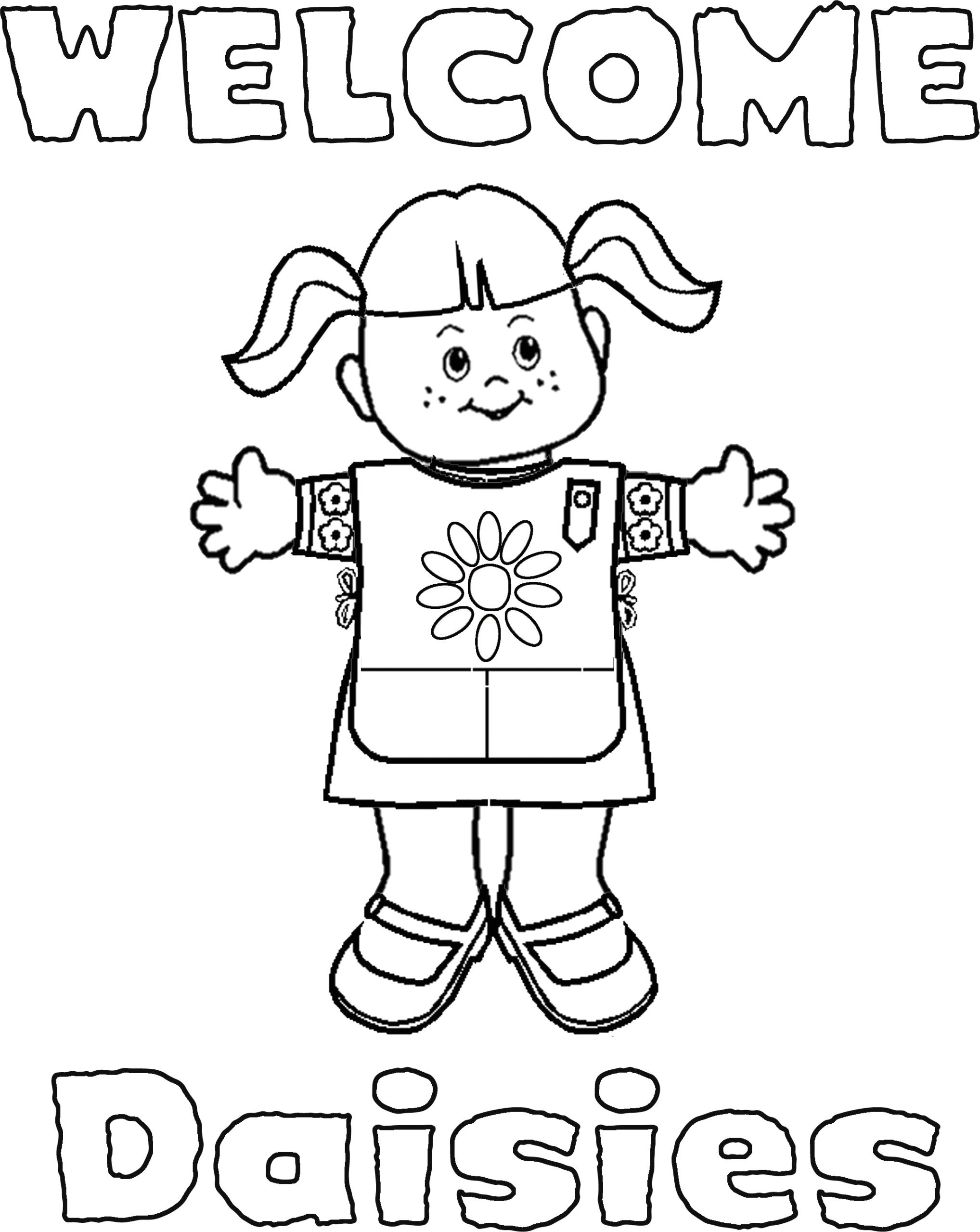 Free Printable Coloring Pages for Girl Scouts Girl Scouts Coloring Pages Coloring Home