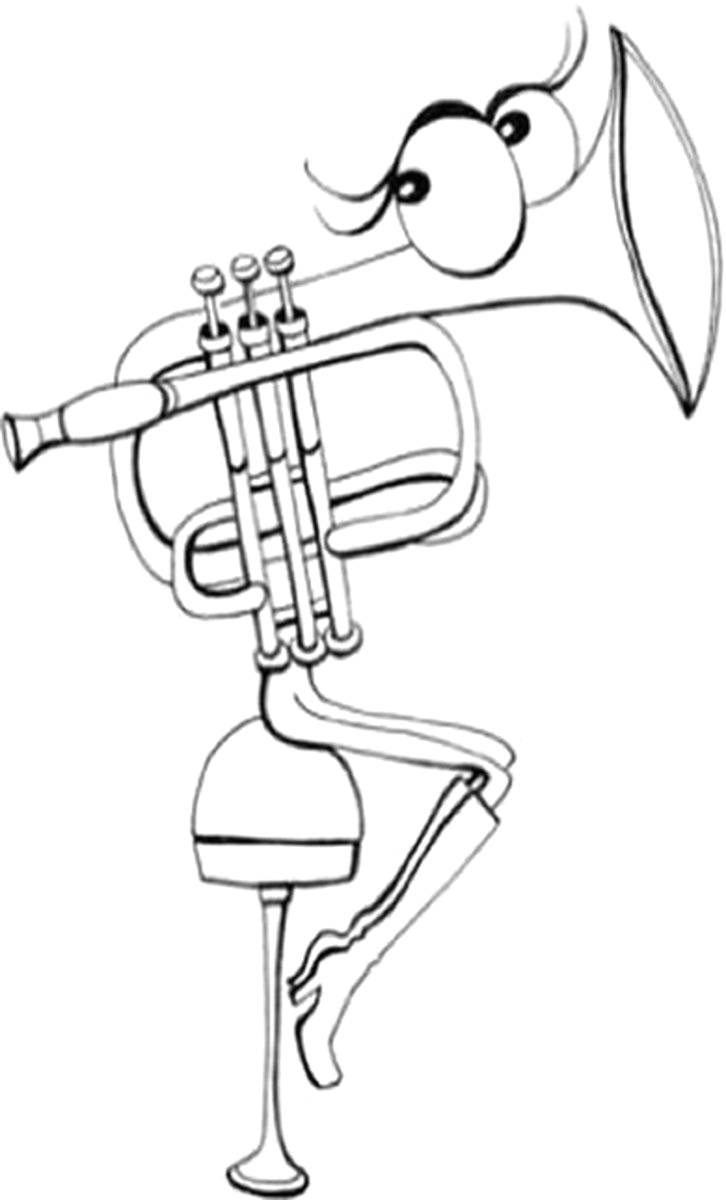 musical instruments coloring pages free