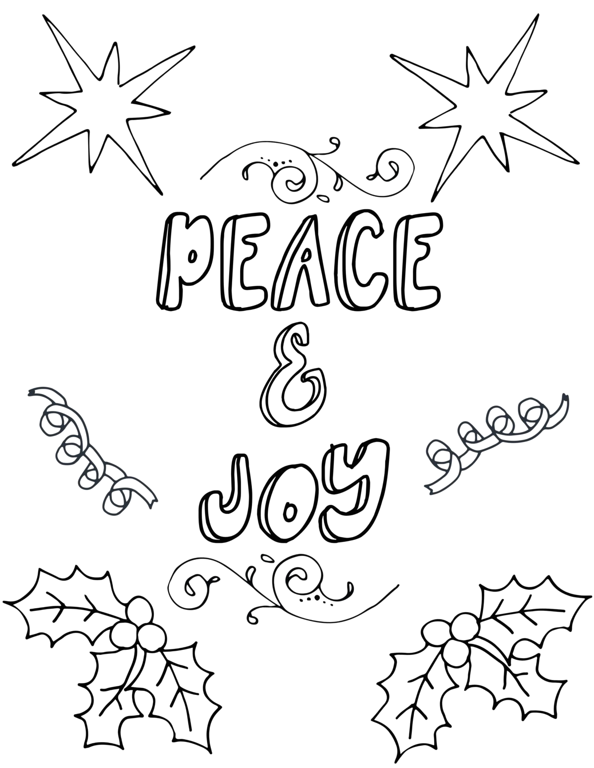 Free Printable Holiday Coloring Pages for Adults Free Printable Christmas Coloring Pages for Adults