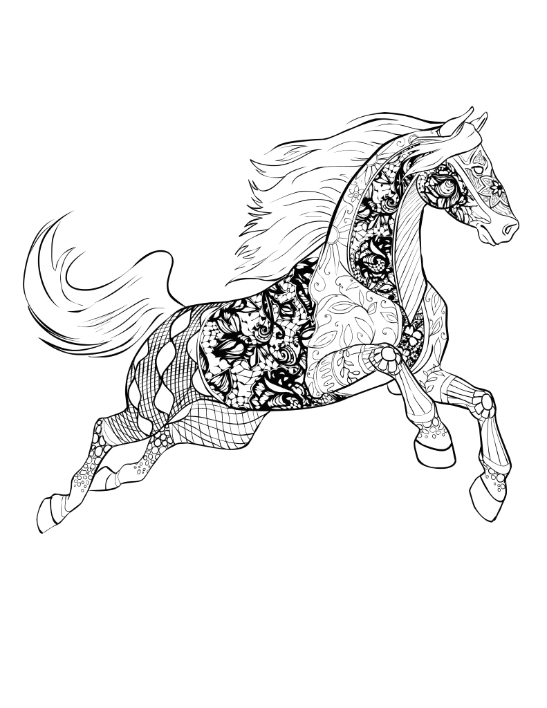 Free Printable Horse Coloring Pages for Adults Advanced Horse Coloring Pages for Adults Best Coloring Pages for Kids