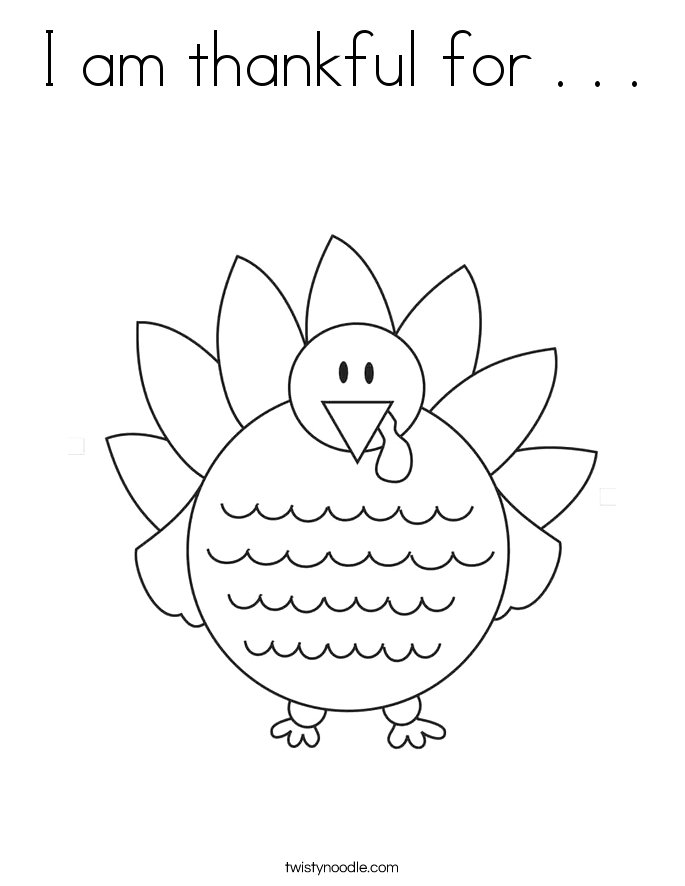 Free Printable I Am Thankful for Coloring Pages I Am Thankful for Coloring Page Twisty Noodle