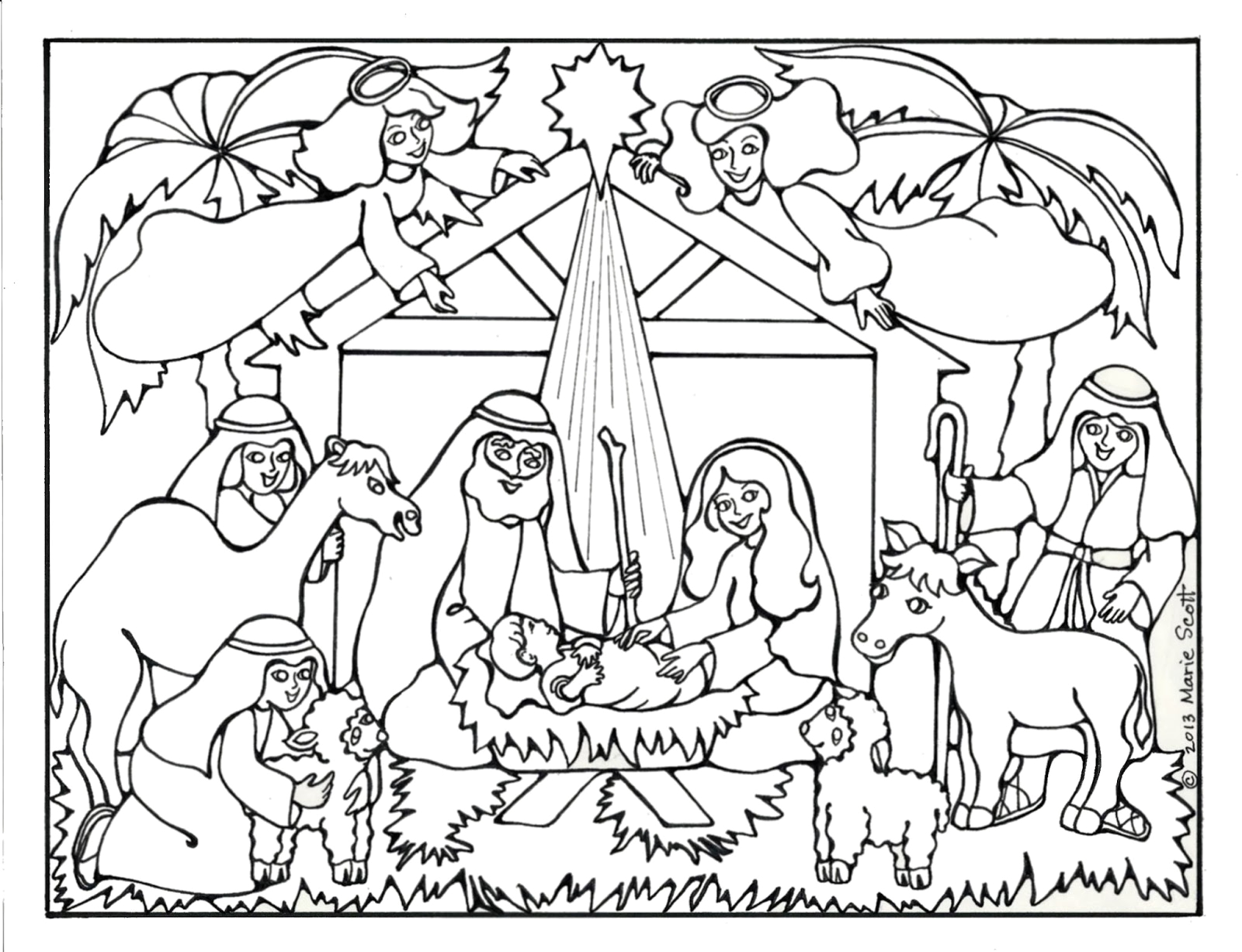 nativity coloring pages 20
