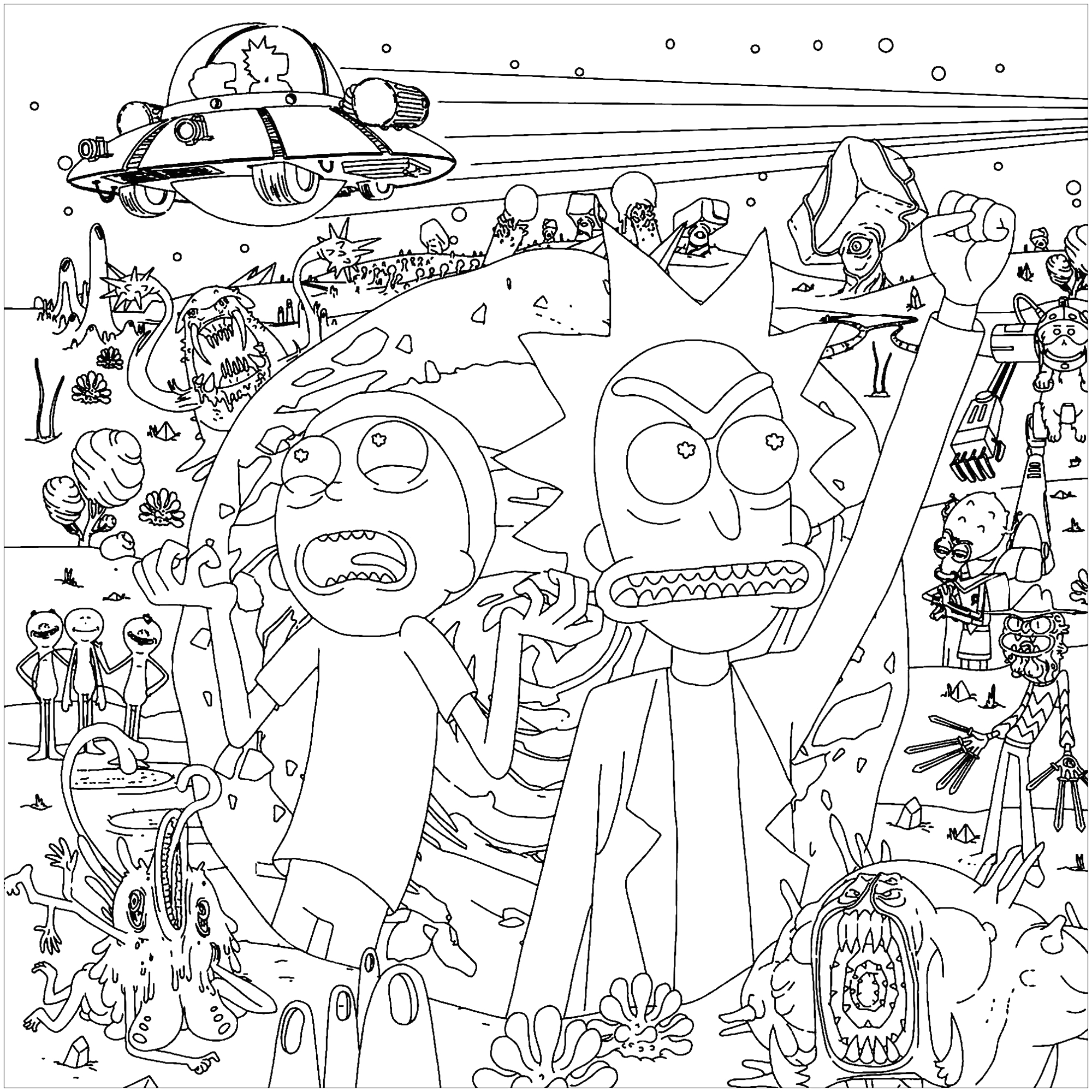 Free Printable Rick and Morty Coloring Pages Rick and Morty Coloring Pages Best Coloring Pages for Kids