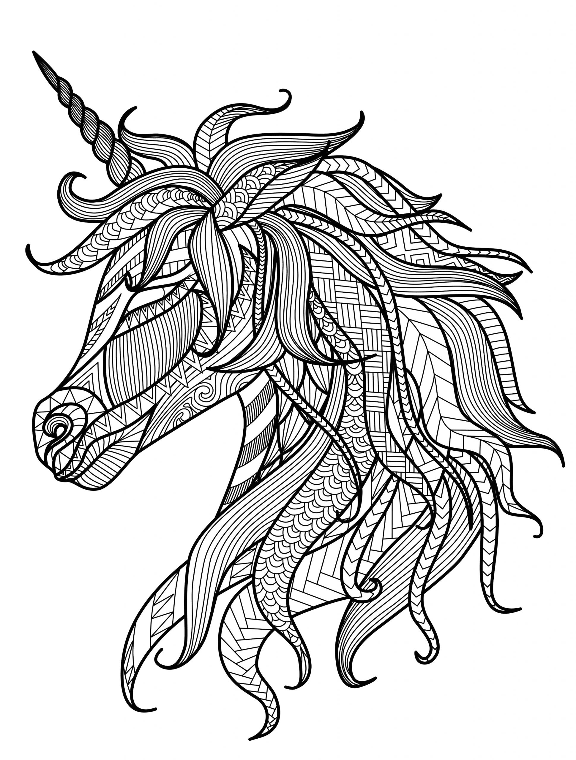 Free Printable Unicorn Coloring Pages for Adults Pin On Zen Coloring