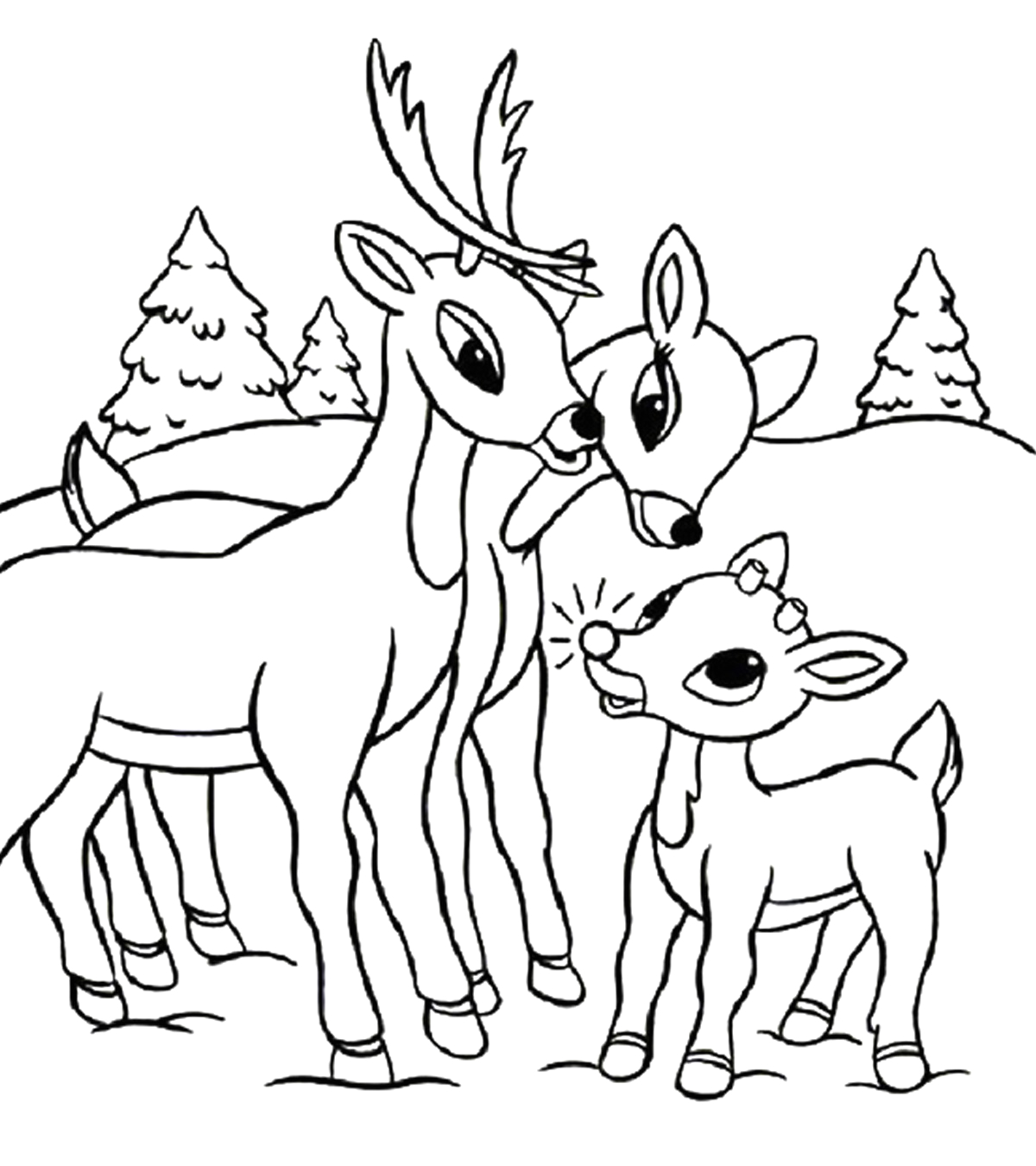 Free Rudolph the Red Nosed Reindeer Coloring Pages Holiday Coloring Pages Momjunction