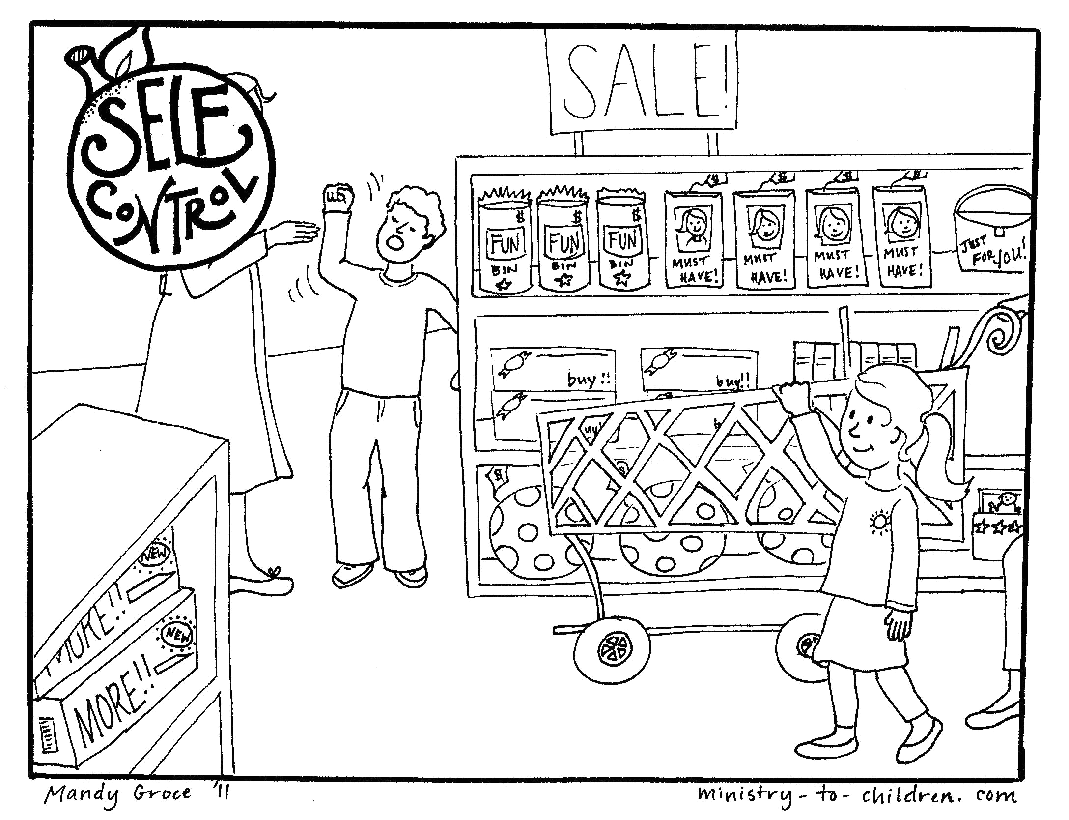Fruit Of the Spirit Self Control Coloring Page Self Control Colouring Pages