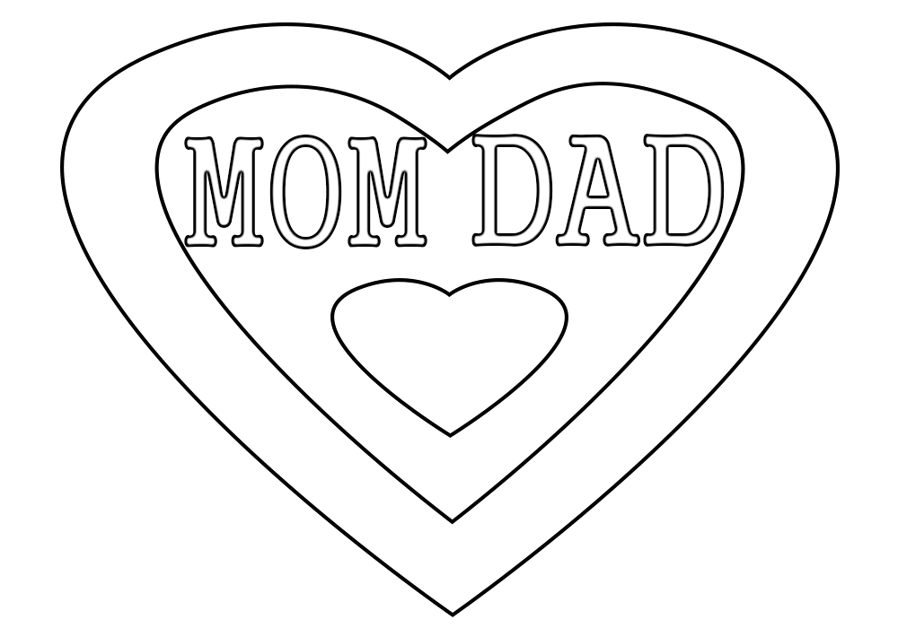 I Love You Mom and Dad Coloring Pages I Love You Mom Coloring Pages